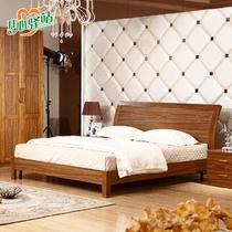 橡胶木组装式架子床简约现代拼板 床