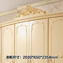 人造板橡木拆装平拉门艺术成人欧式 衣柜