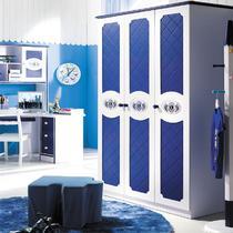 深蓝色人造板密度板/纤维板储藏童趣/玩具儿童欧式 衣柜