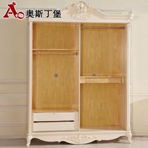 哑光人造板松木储藏上下滑移门艺术成人欧式 衣柜