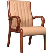 黄环保固定扶手实木脚皮艺橡木 X-213扶手椅