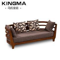 三人位沙发扶手椅雕刻橡木海绵成人简约现代 沙发