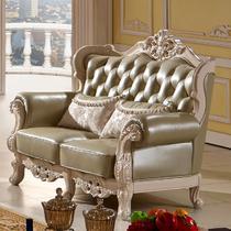 图片色真皮U形皮革油漆工艺喷漆雕刻橡胶木储藏海绵植物花卉欧式 沙发