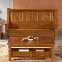 U形油漆工艺喷漆雕刻香樟木储藏艺术明清古典 沙发