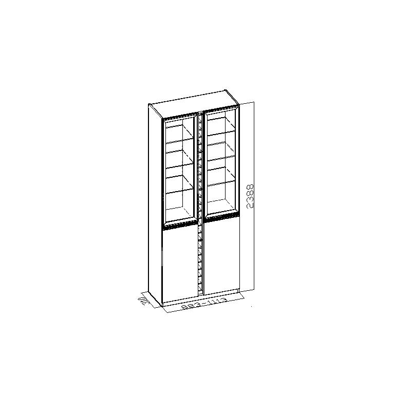 索菲亚 白枫 色刨花板/三聚氰胺板框架结构储藏简约现代 酒柜