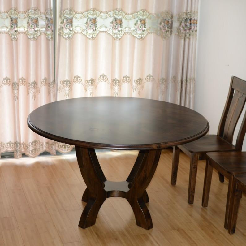 岭林 散装支架结构橡胶木圆形北欧/宜家 餐桌
