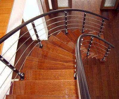 康辉 钢弧型梯 弧形钢木楼梯楼梯