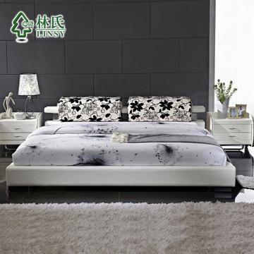 木印花组装式架子床棉方形简约现代