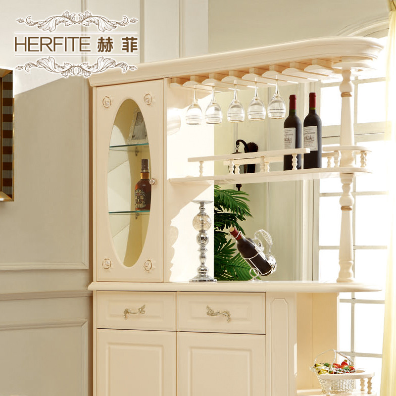赫菲 法式客厅玄关柜哑光酒柜酒架人造板框架结构橡胶