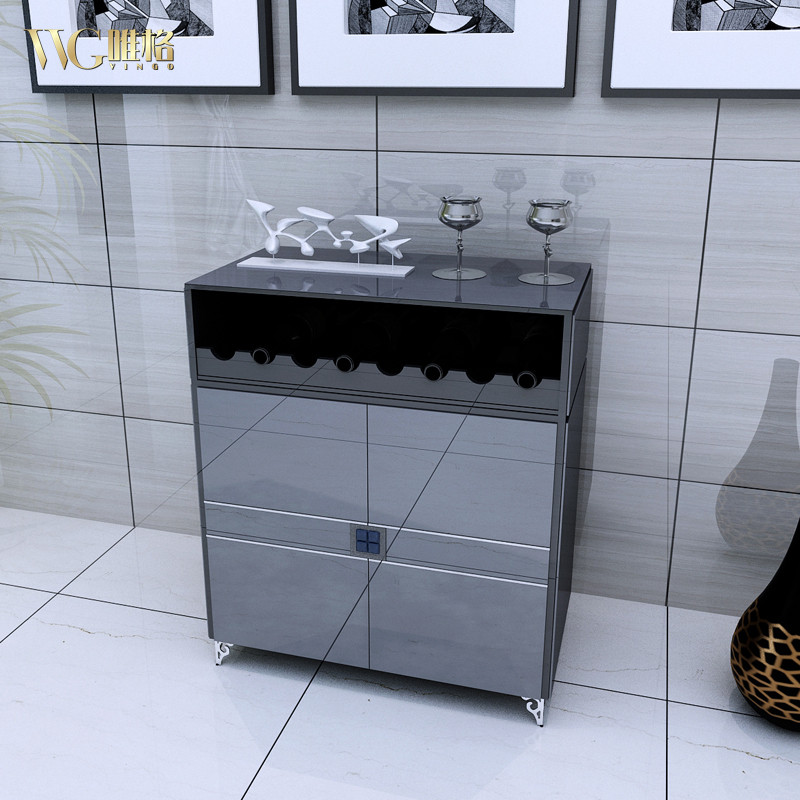 vvg 钢化玻璃箱框结构移动简约现代 餐边柜
