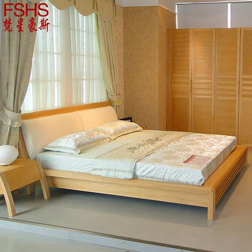 水曲柳组装式架子床简约现代拼板