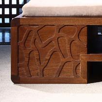 浅黄色木质工艺拼板框架结构榆木多功能植物花卉现代中式 贵妃椅