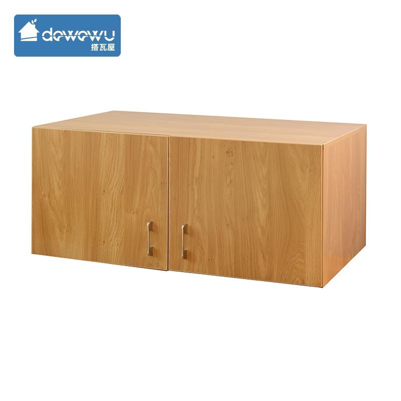 搭瓦屋 木纹色,网点自提人造板刨花板/三聚氰胺板箱框结构储藏简约