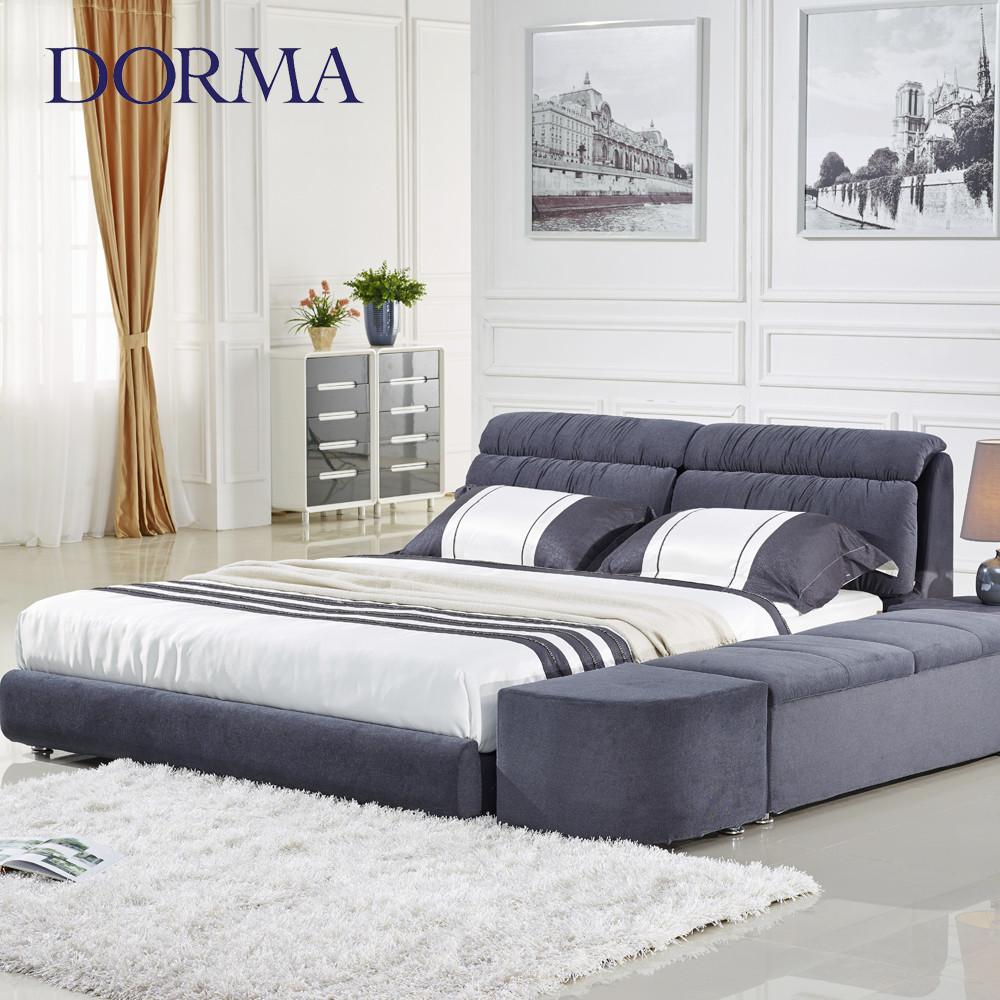 木植绒组装式架子床复合面料方形简约