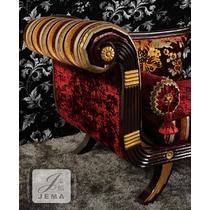 左扶手右扶手印花面料工艺木质工艺雕刻橡胶木复合面料化纤欧式 贵妃椅