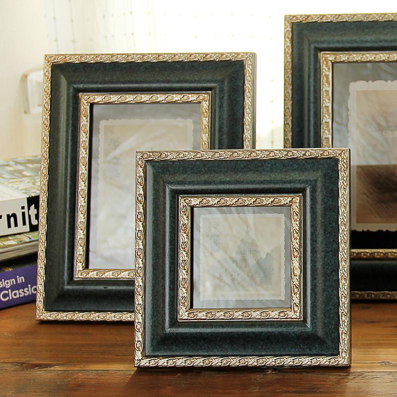 蓝色木相框长方形欧式