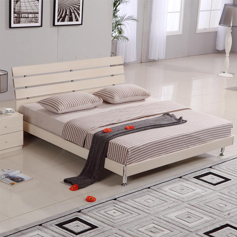 人造板组装式架子床方形简约现代