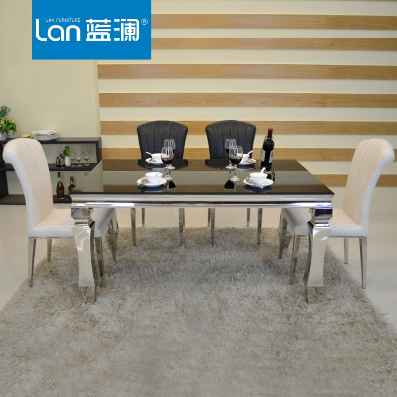 蓝澜 组装框架结构移动长方形简约现代 餐桌