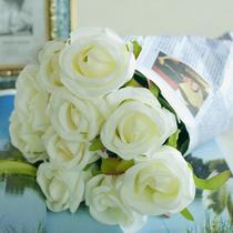 摆放花卉玫瑰绢花 仿真植物仿真花