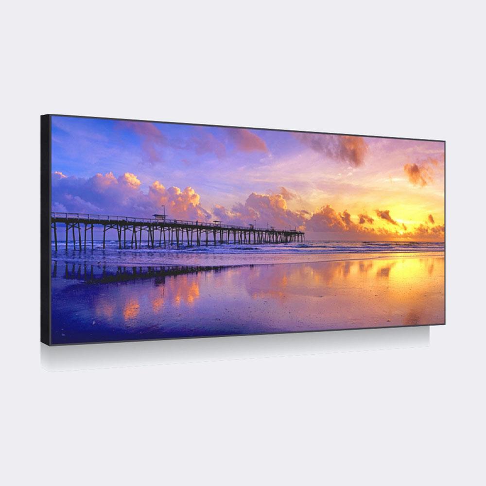 天画 平面简框画有框独立风景喷绘 002241装饰画