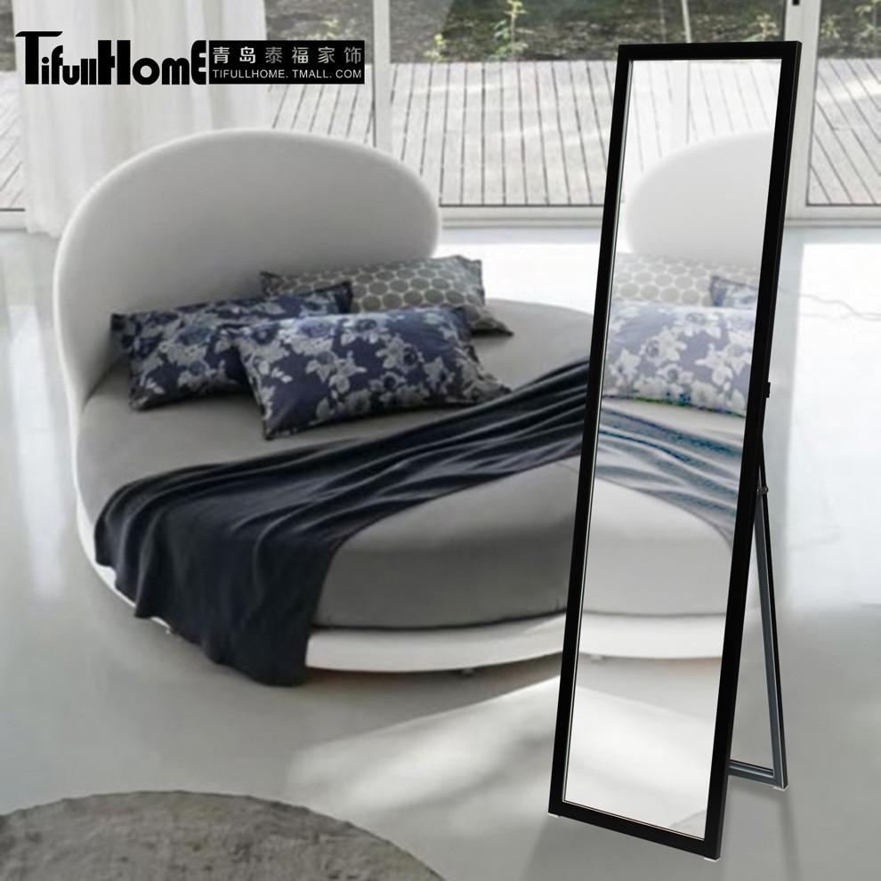 TifullHome 塑料置地方形现代中式 穿衣镜