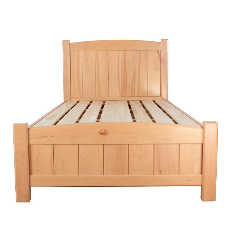 榉木组装式架子床现代中式拼板