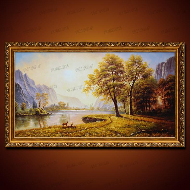 美坊 立体有框风景手绘 10fj油画