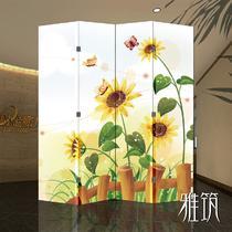 印制松木面料工艺木质工艺植物花卉现代中式 屏风