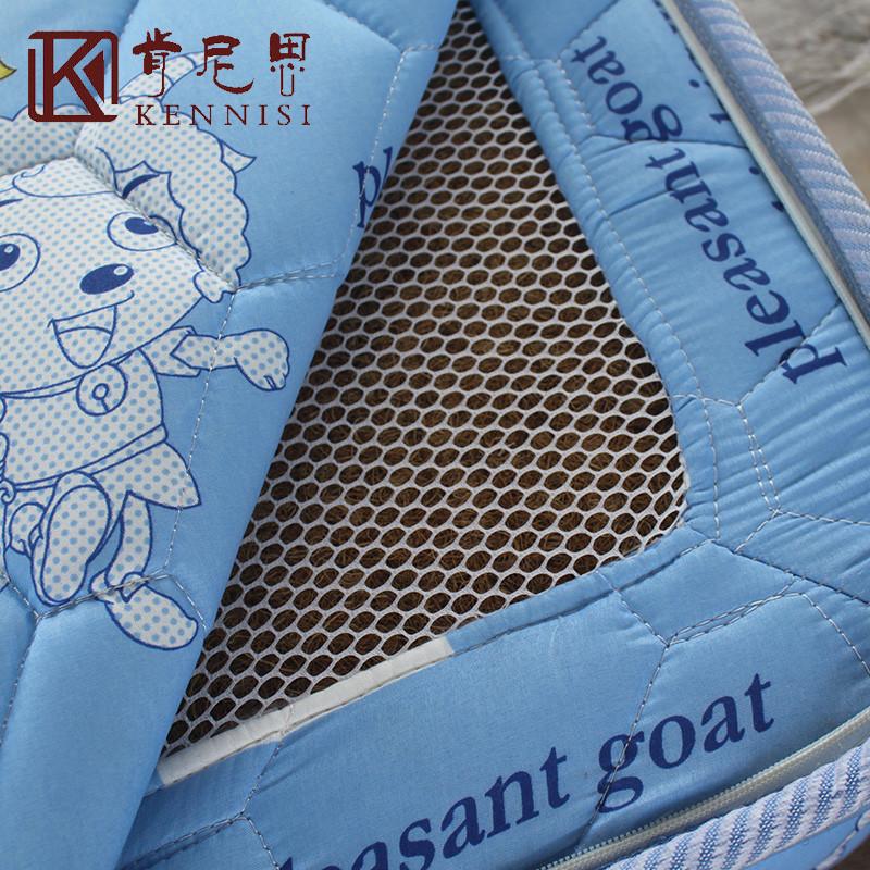 肯尼思 蓝色喜洋洋整网弹簧儿童 床垫