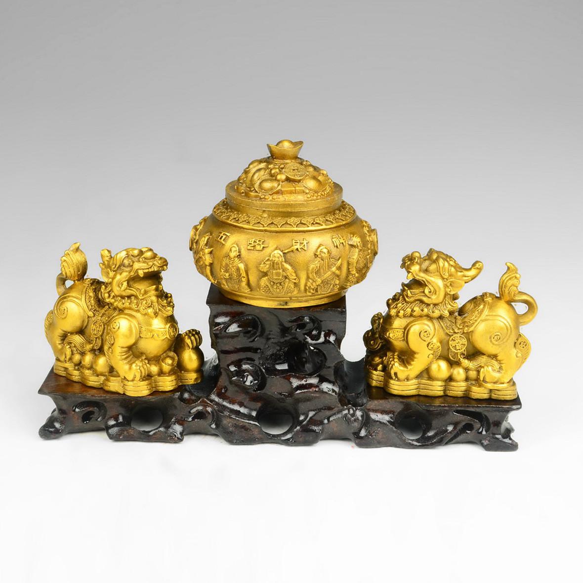 百纳源 铜动物辟邪现代中式 t051105摆件
