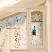 象牙白色哑光人造板框架结构橡木储藏艺术田园 壁炉