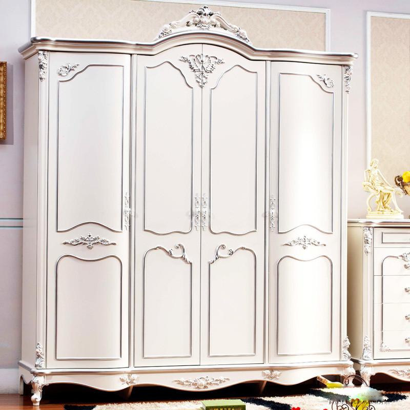 橡木平拉门植物花卉成人欧式衣柜