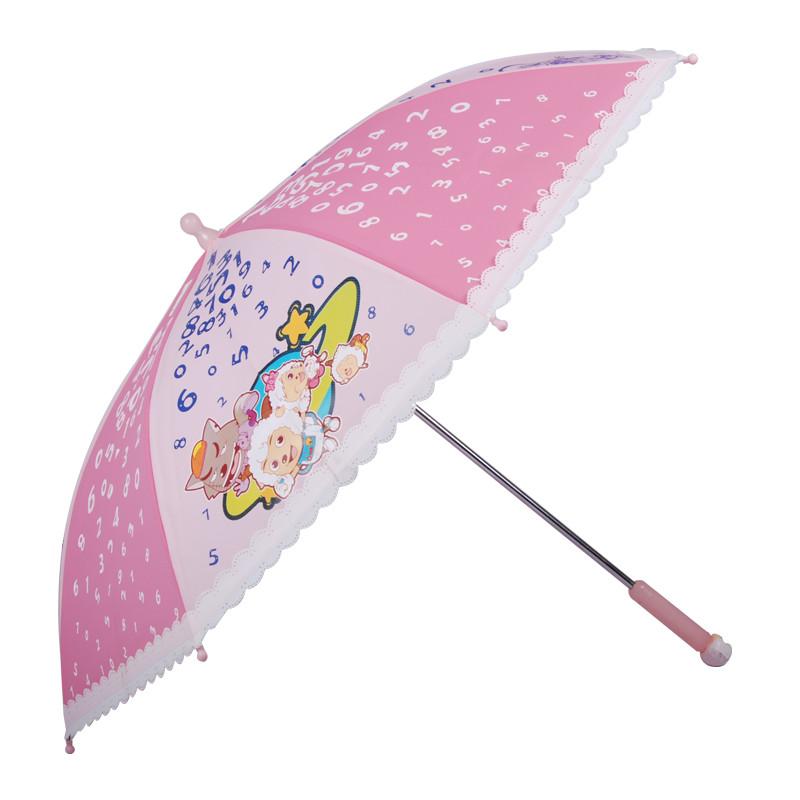 强迪 雨伞 儿童磨砂透明伞遮阳伞
