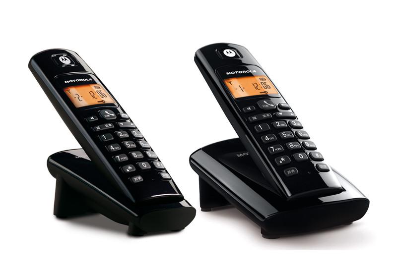 摩托罗拉 银色有数字无绳 电话机
