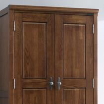 柞木储藏平拉门成人韩式 衣柜