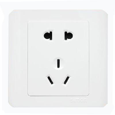 西蒙 白色二三极插座 插座