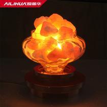 玻璃木现代中式热弯白炽灯 盐灯