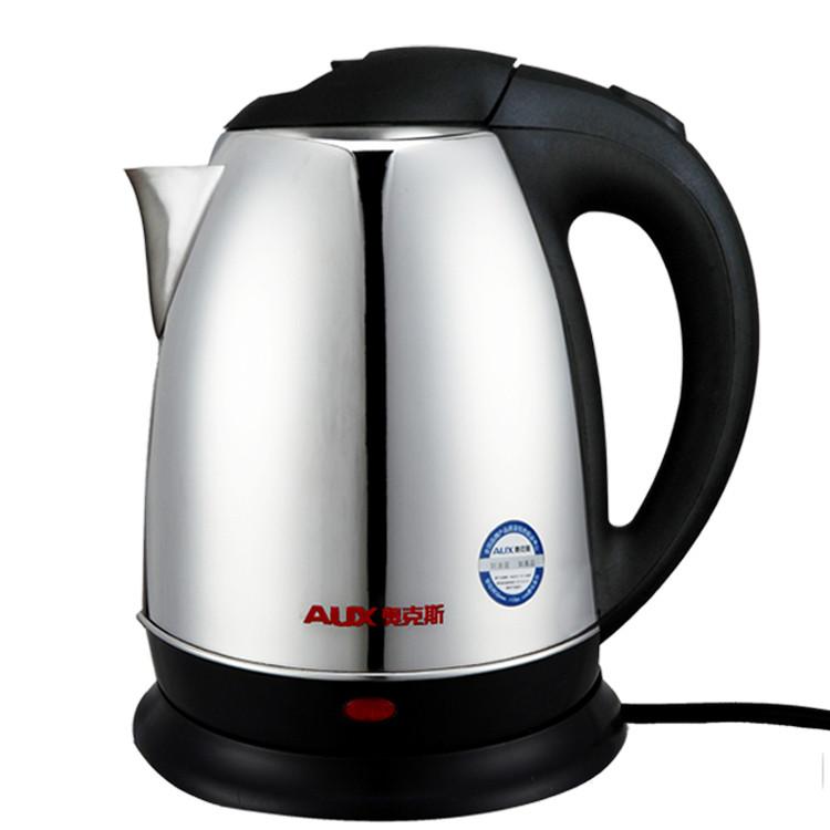 奥克斯银色不锈钢普通电热水壶底盘加热电水壶