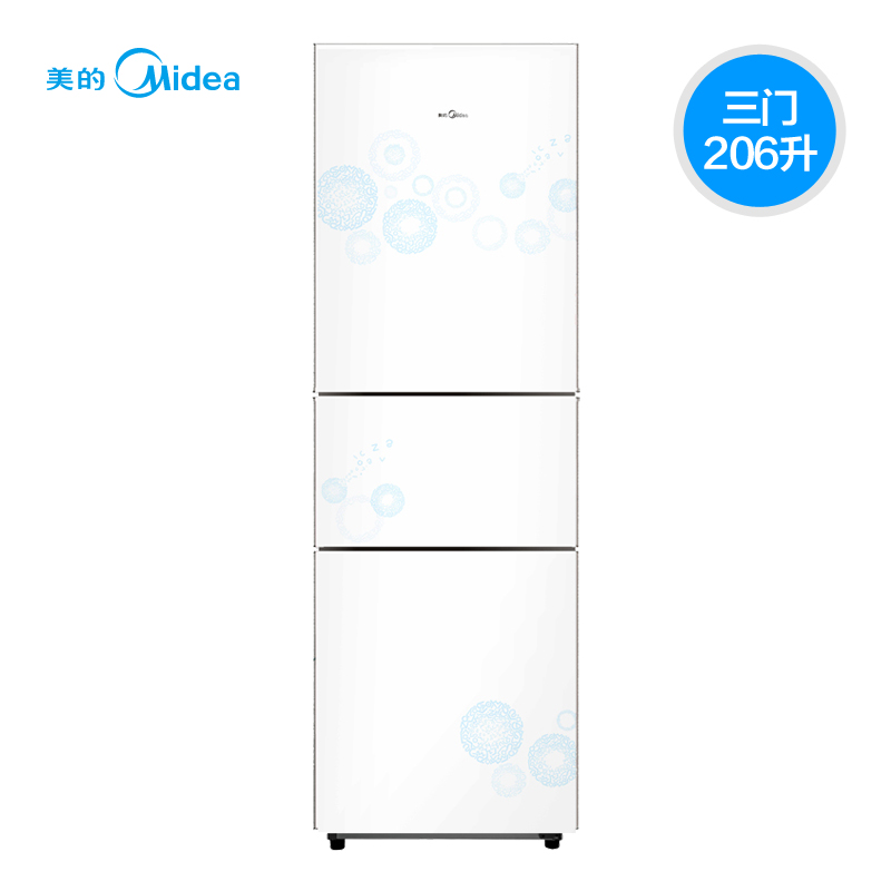 美的 三门式冷藏冷冻冰箱 冰箱