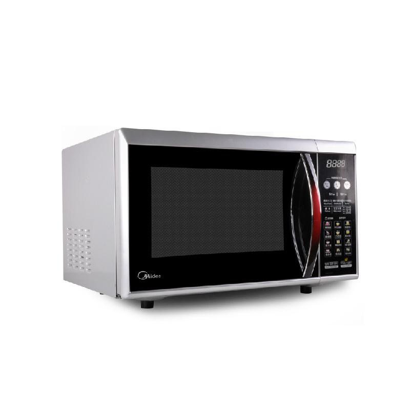 美的 红黑色平板式微电脑式 EG823LC2-NA微波炉