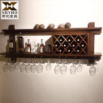 木质工艺榫卯结构框架结构水曲柳欧式 酒架