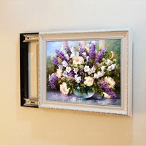平面向上推向左推向右推有框植物花卉喷绘 装饰画
