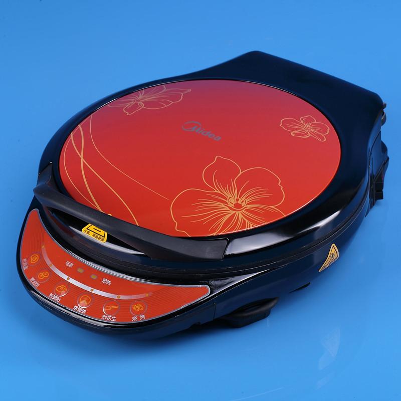 美的 红色双面加热不粘涂层悬浮式 JCN34D电饼铛