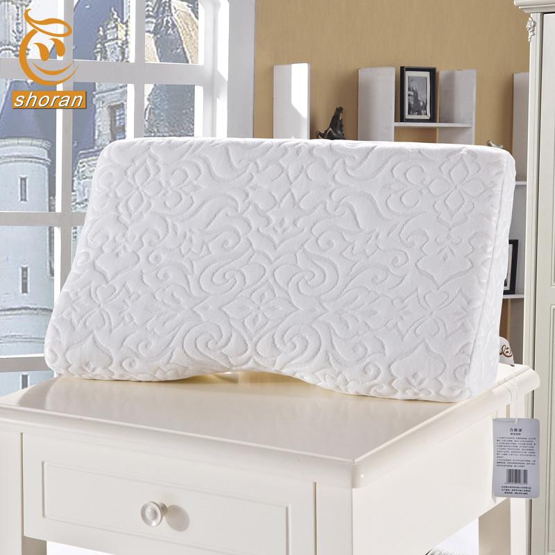 小软 白色全涤蝶形枕一等品涤棉记忆棉长方形 枕头