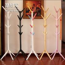 黑色透明彩色粉色白色木质工艺支架结构松木拆装品牌LOGO成人欧式 衣帽架
