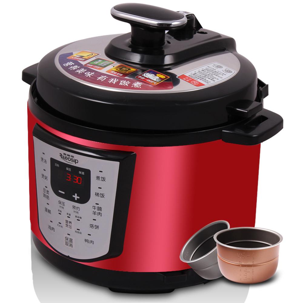 雅乐思 5L双胆煲蒸煮炖焖预约定时全国联保微电脑式 电压力锅