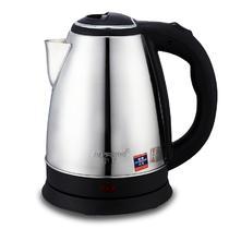 银色不锈钢普通电热水壶2L底盘加热 电水壶