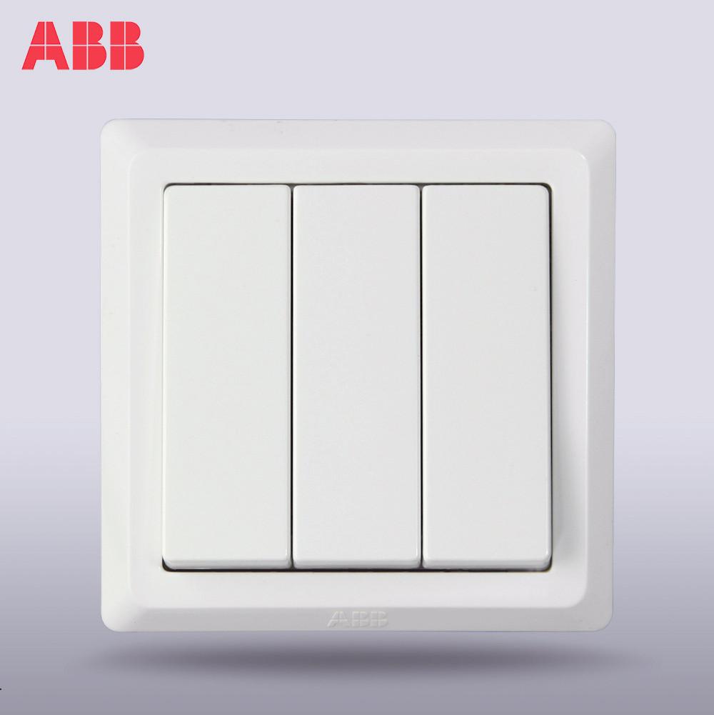 ABB 雅白86型 德逸AE107白色开关