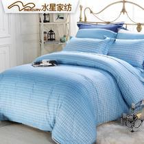 蓝语谜情简约现代斜纹条纹床单式简约风 床品件套四件套