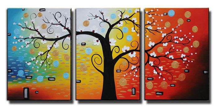 水竞 手绘油画立体厚约3厘米实木框架无框拼套抽象图案 装饰画